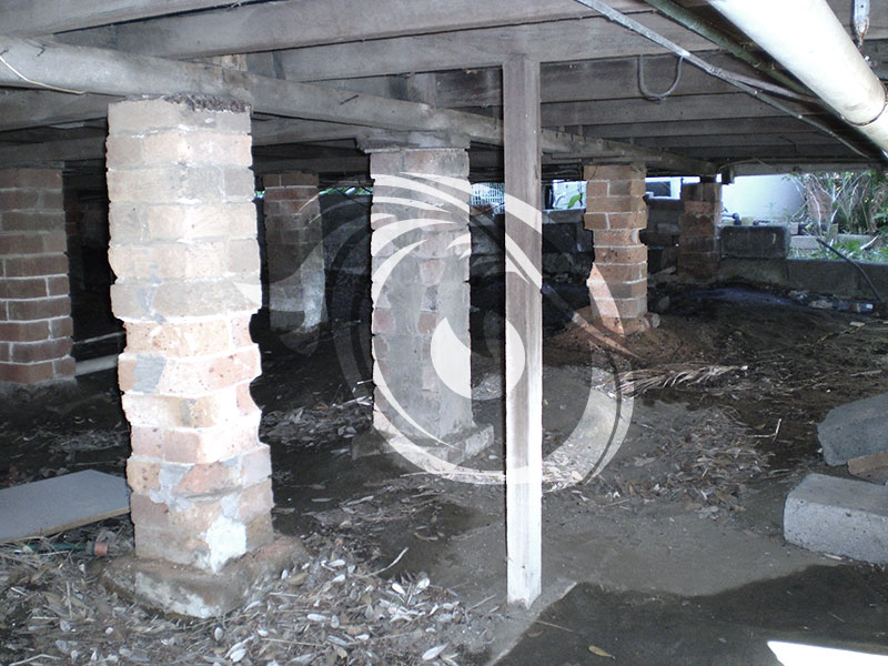Brick piers has perished and needs to be replaced.